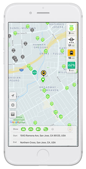 Getting around San Jose - Ride share, carshare, taxi, transit